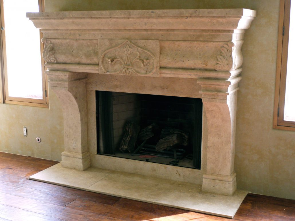 kitchen tables & more fingerhut italian & tuscan stone fireplace mantels - bt ...