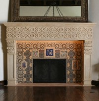 Elegant, Custom Stone Fireplaces by BT Architectural Stone