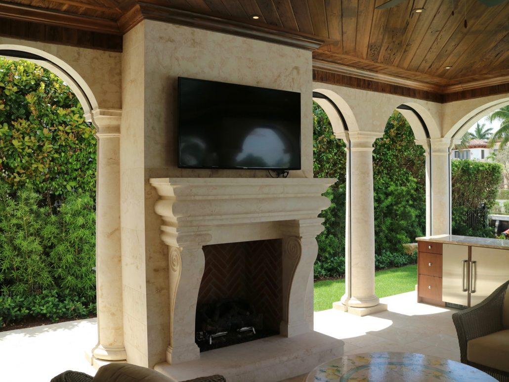 Building A Stone Fireplace Custom Outdoor Stone Fireplaces | Bt Arch Stone
