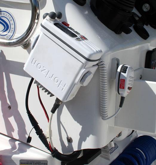 Our Standard Horizon VHF side mount