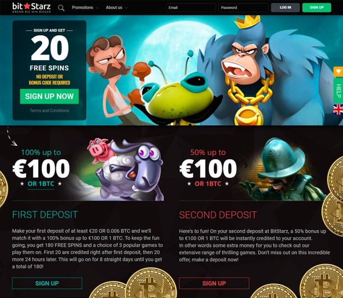 Bitstarz bonus senza deposito 20 бесплатные вращения
