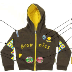 Brownie Sash Diagram 97 Vw Jetta Radio Wiring 1st Colerne Rainbows, Brownies And Guides - Badge Placement Guide