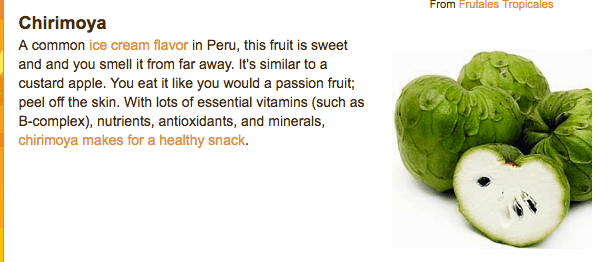 Fruits of the World:  Peruvian Fruteria