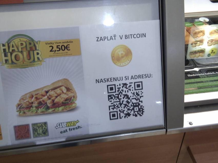 Yet Another Subway Shop Now Accepts Bitcoin, This Time in Slovakia