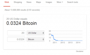 Google Adds Bitcoin to Instant Answers