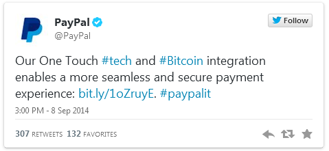 Breaking: Ebay Announces PayPal Bitcoin Integration