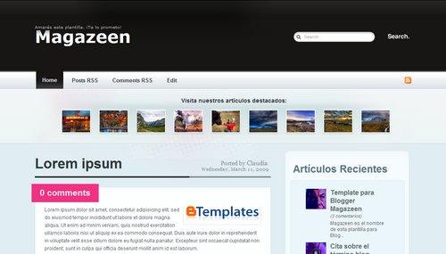 Download Magazeen Blogspot Template