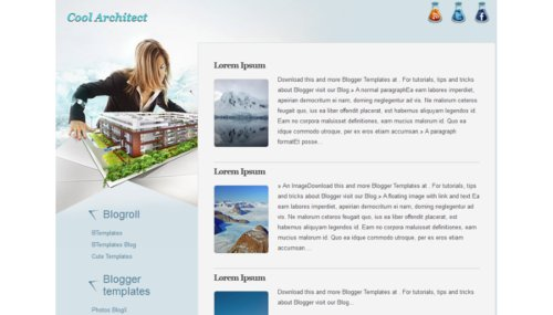 Cool Architect Blogger template - BTemplates