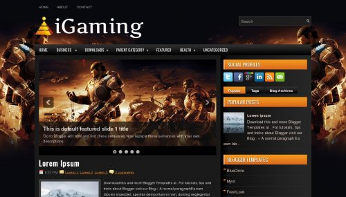 Download igaming template for blogger[best template] - ahir4you