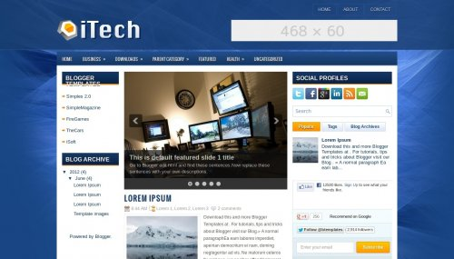 Itech blogger template btemplates live demo pronofoot35fo Image collections