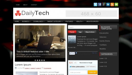 Download DailyTech template for blogger [best template ] - ahir4you