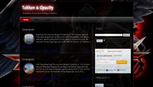 Download Tekken 6 Opacity template for blogger[best template] - ahir4you