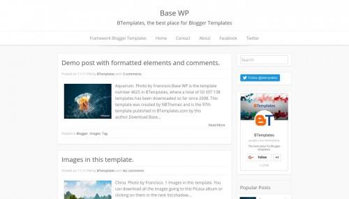base wp blogger template btemplates. Black Bedroom Furniture Sets. Home Design Ideas