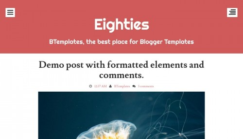 Red Blogger templates 2017
