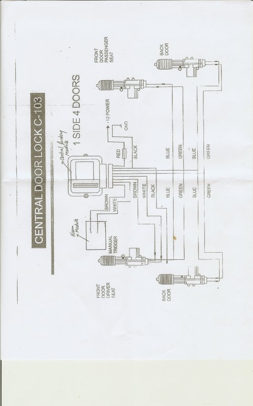 small resolution of remote alarm control circuit central locking circuit diagram