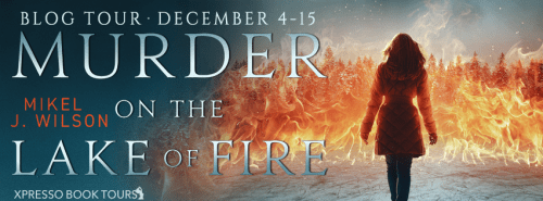 Murder on the Lake of Fire blog tour banner