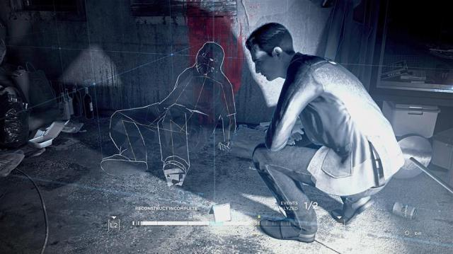 Connor has the nifty ability to reconstruct crime scenes based on evidence that the player manages to detect.