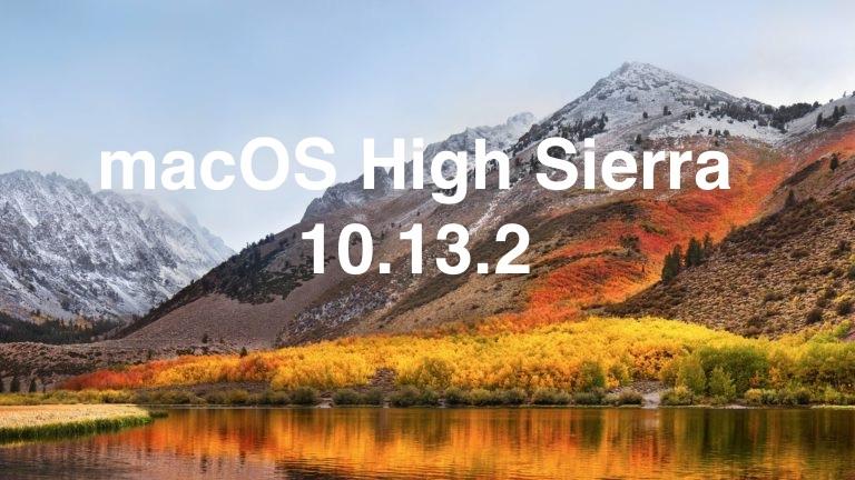Выпущено обновление MacOS High Sierra 10.13.2 с исправлениями ошибок