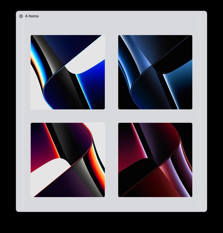 Получите 4 новых обоев MacOS Monterey / MacBook Pro