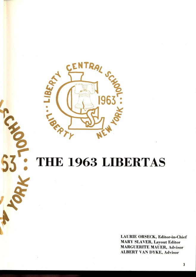 Libertas yearbook for 1963