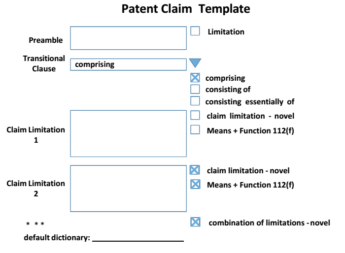 patent claim template