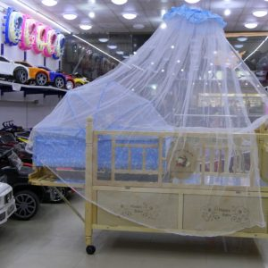 2 In 1 Wooden Cot Baby Cradle