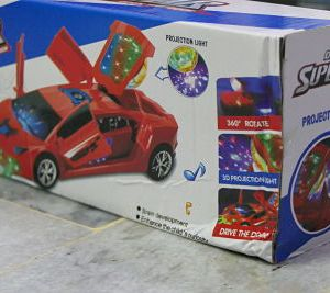 Lamborghini Car Supercar Toy 3D Projection Light with Music Opening Doors & 360 Degree Rotation