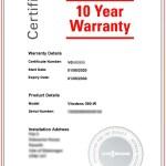 Viessmann Warranty Certificate
