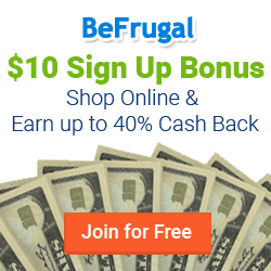 BeFrugal.com Cash Back