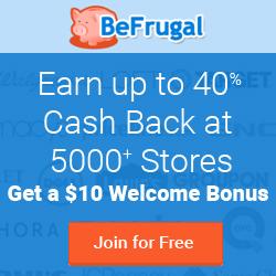 BeFrugal.com Cash Back