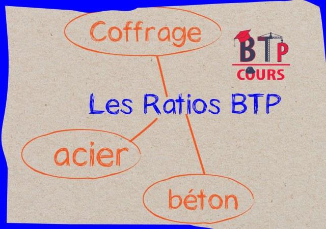 ratios acier - ratios coffrage - ratios béton