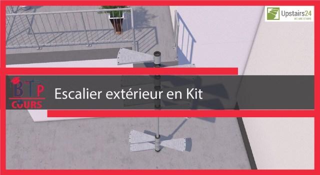 montage d'un escalier extérieur en Kit