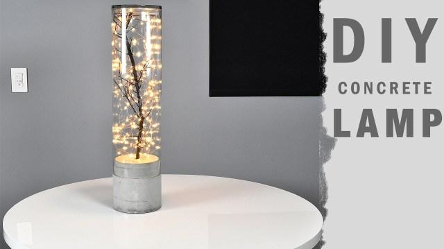 Comment fabriquer une Magnifique Lampe en béton.