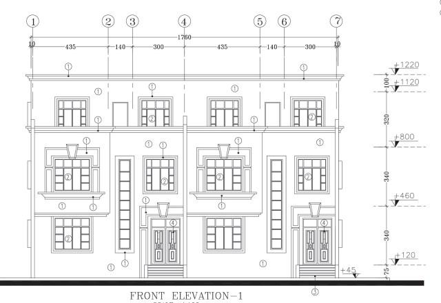 plan, façade, principale