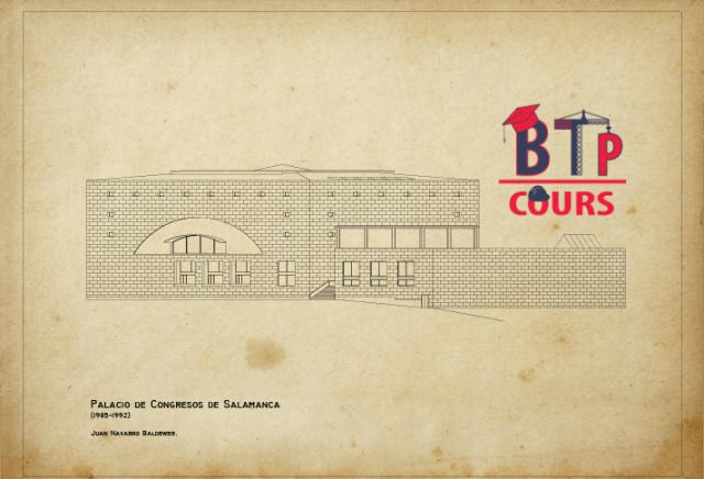 plan facade Palais des Congrès en format DWG