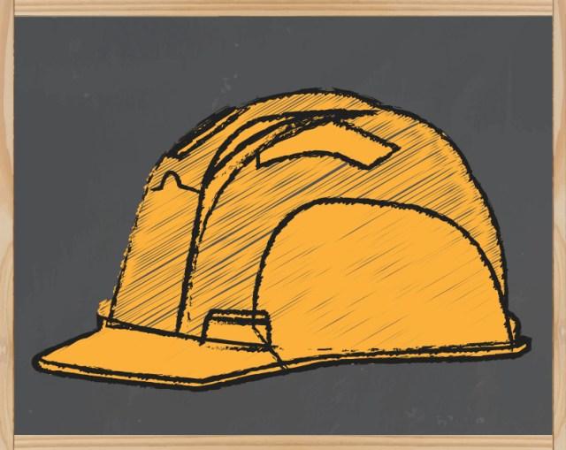 Le casque jaune: maçon…