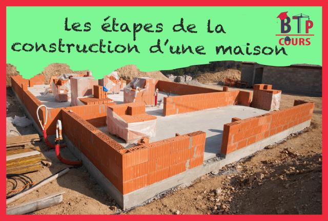 Construction des maisons étape par étape
