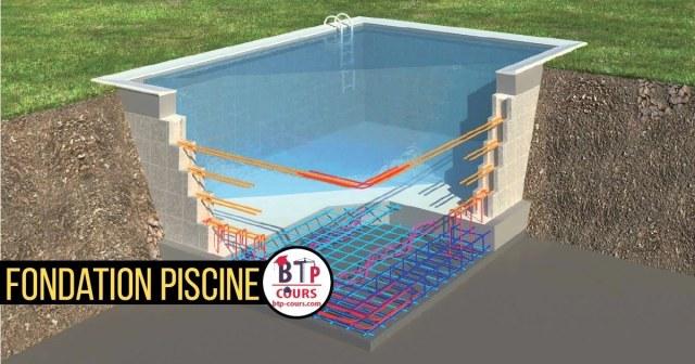 fondation piscine béton