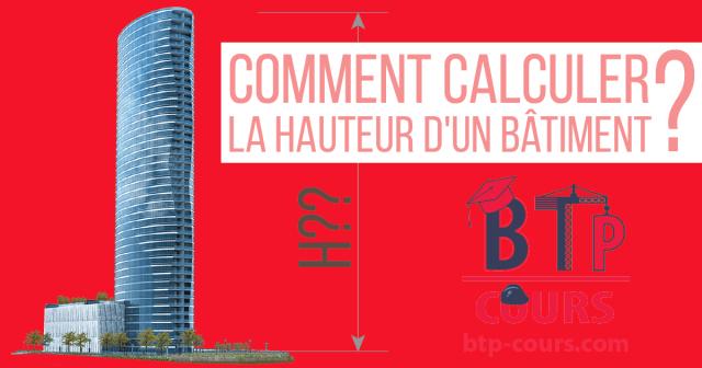 calcul la hauteur d'un bâtiment