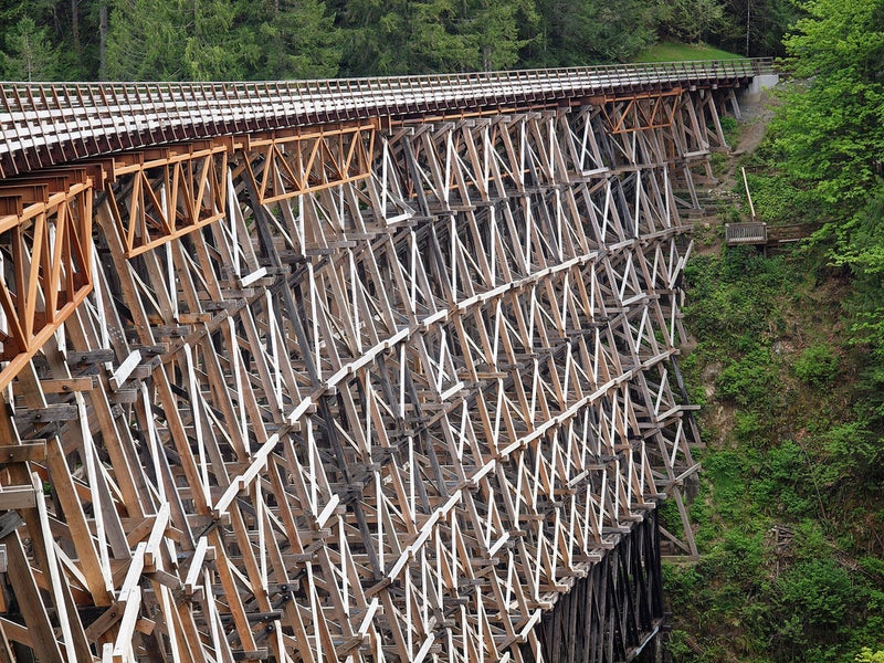 Pont à chevalets de Kinsol