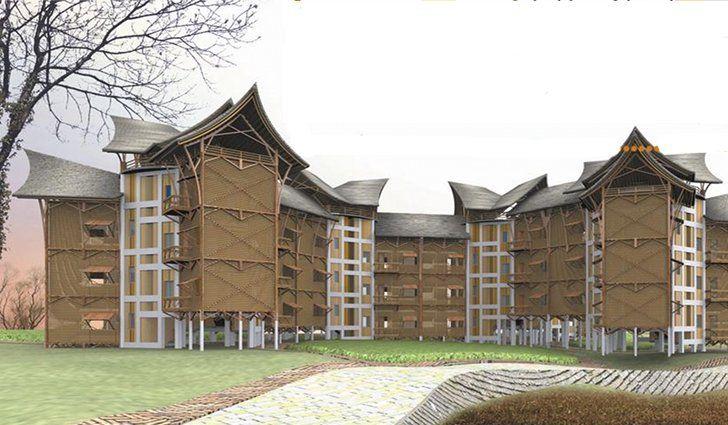 logement sociaux en bambou