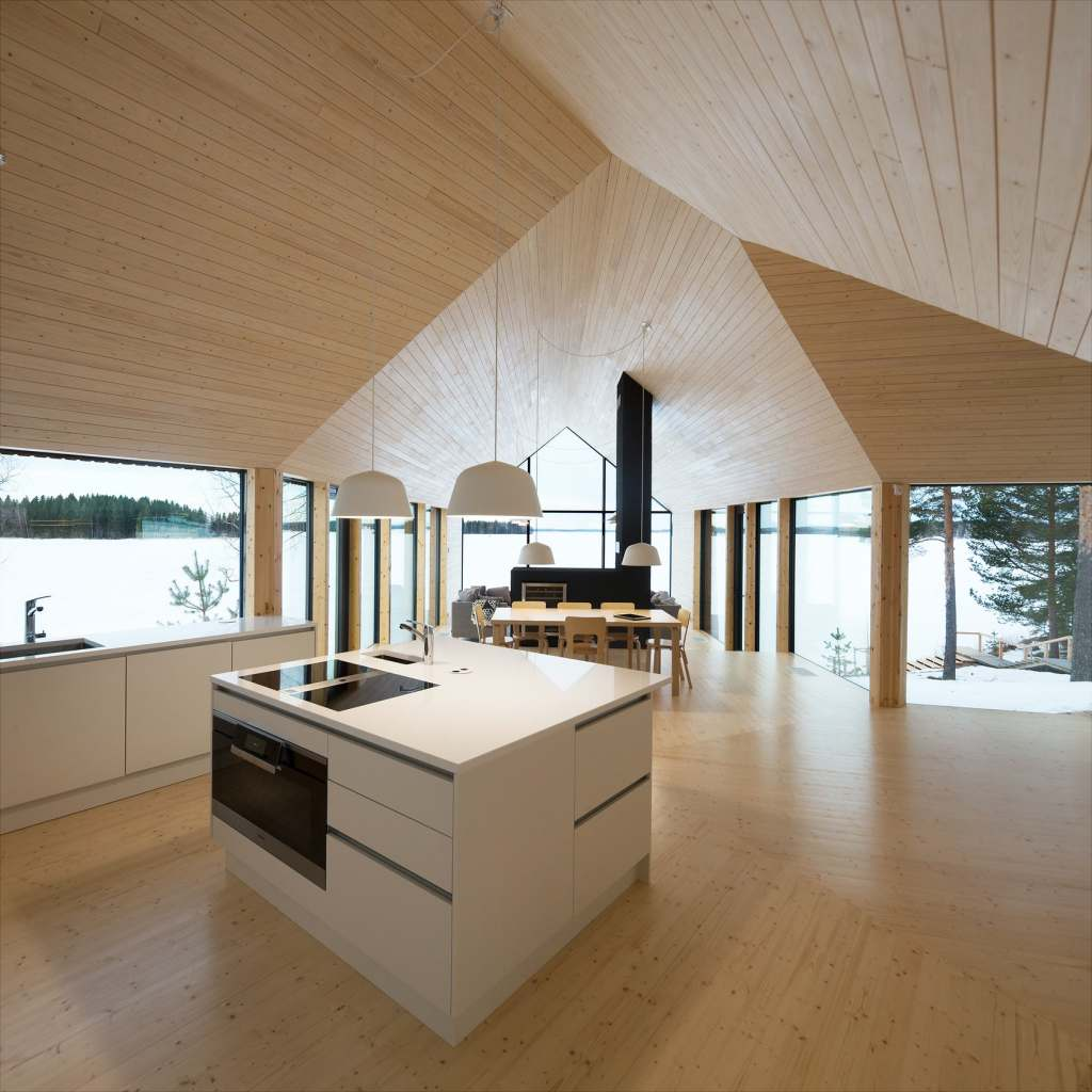 Maison Y - cheminées étonnantes pour des résidences minimalistes