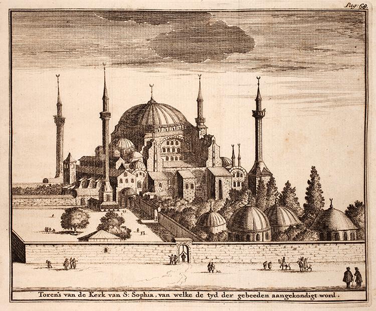 Adriaan Reland Minaret de la mosquée Sainte-Sophie