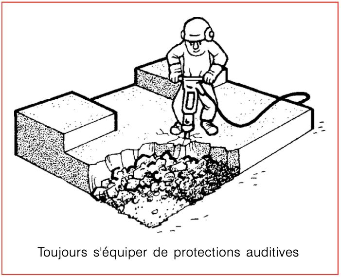 Toujours s'équiper de protections auditives