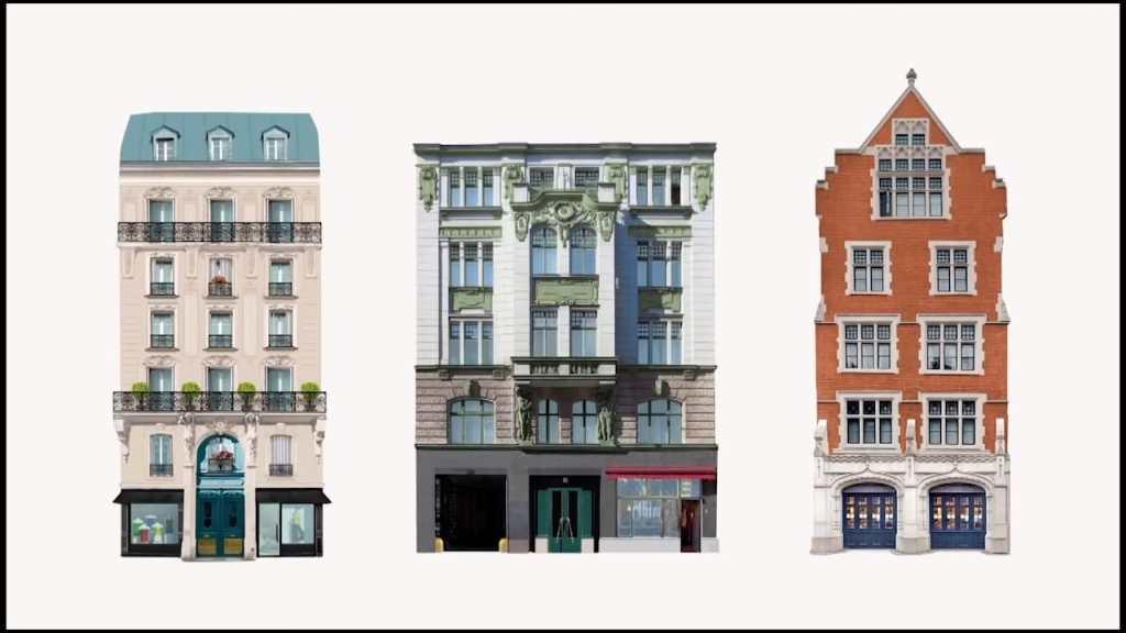 bâtiments de Berlin Londres et Paris