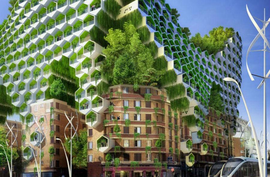 Ville intelligente de Paris en 2050