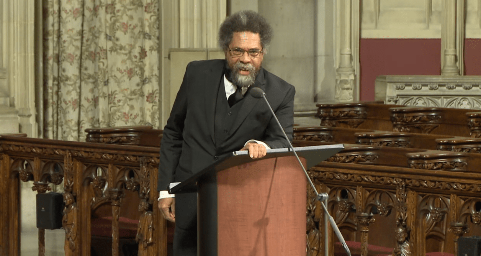 Dr. Cornel West speaking at Dr. James Cone's Memorial Service