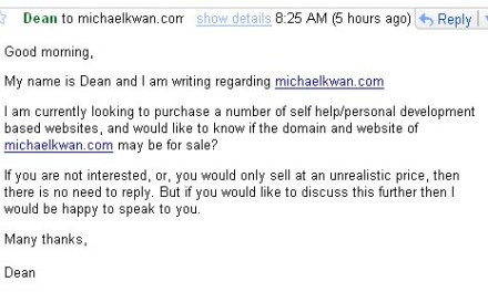 Should I Sell MichaelKwan.com?