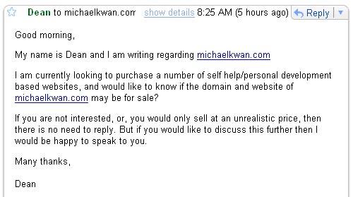 Should I Sell MichaelKwan.com?