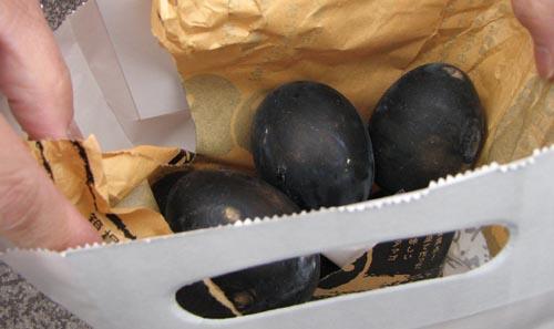 kuro tamago (black egg) from hakone, japan